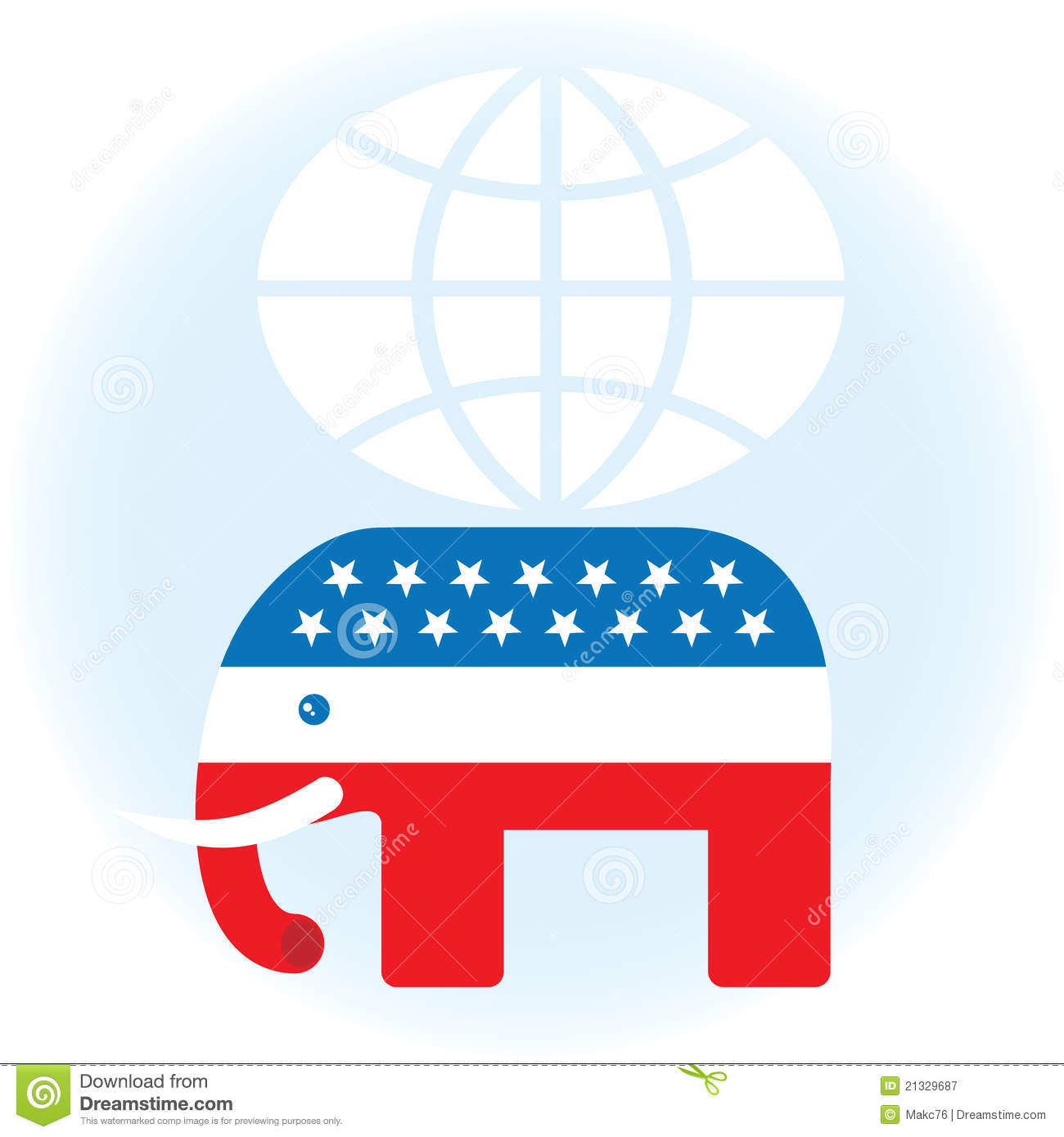 American Republican Symbol Editorial Photography Illustration Of