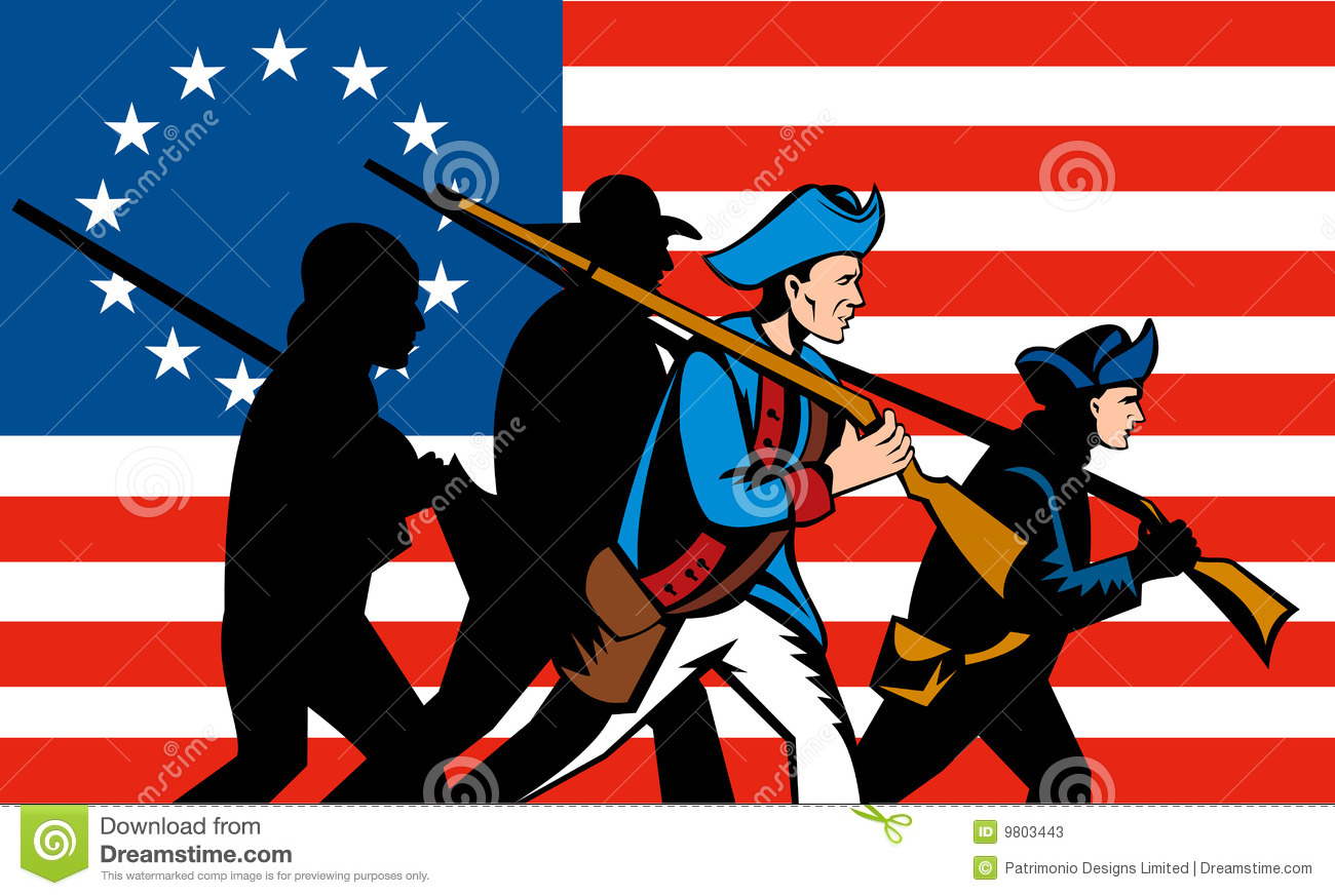 American Revolution Clipart American revolution with flag