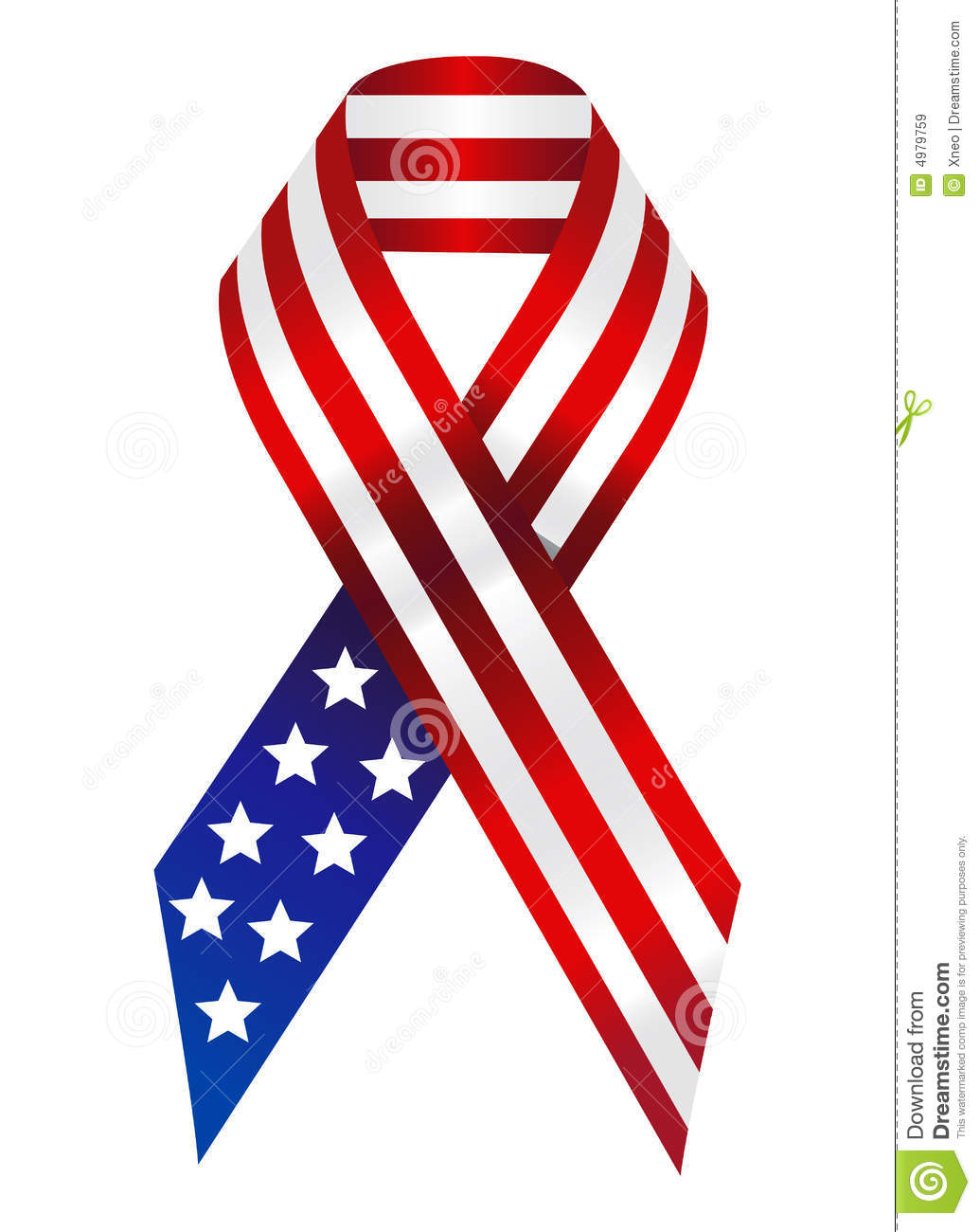 American Ribbon Royalty Free Stock Images - Image: 4979759