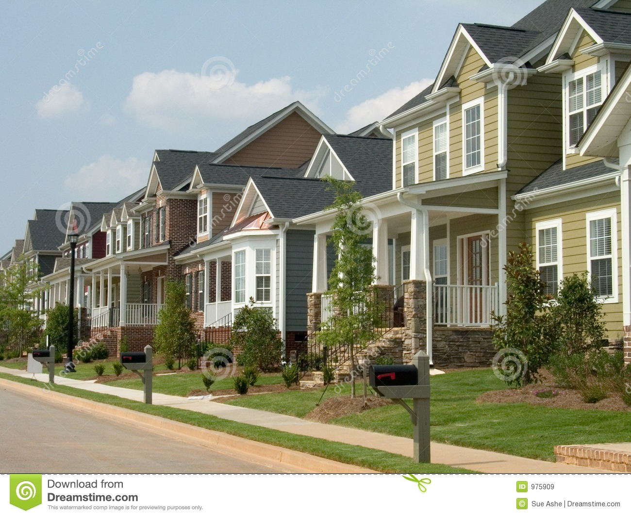 American Row House Stock Image Image Of Abode