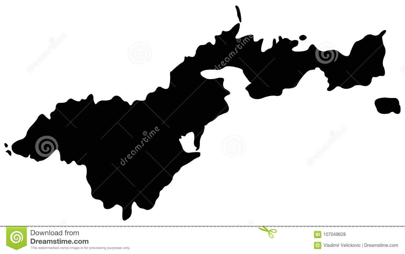 American Samoa Map, USA, Country Stock Vector - Illustration of ...
