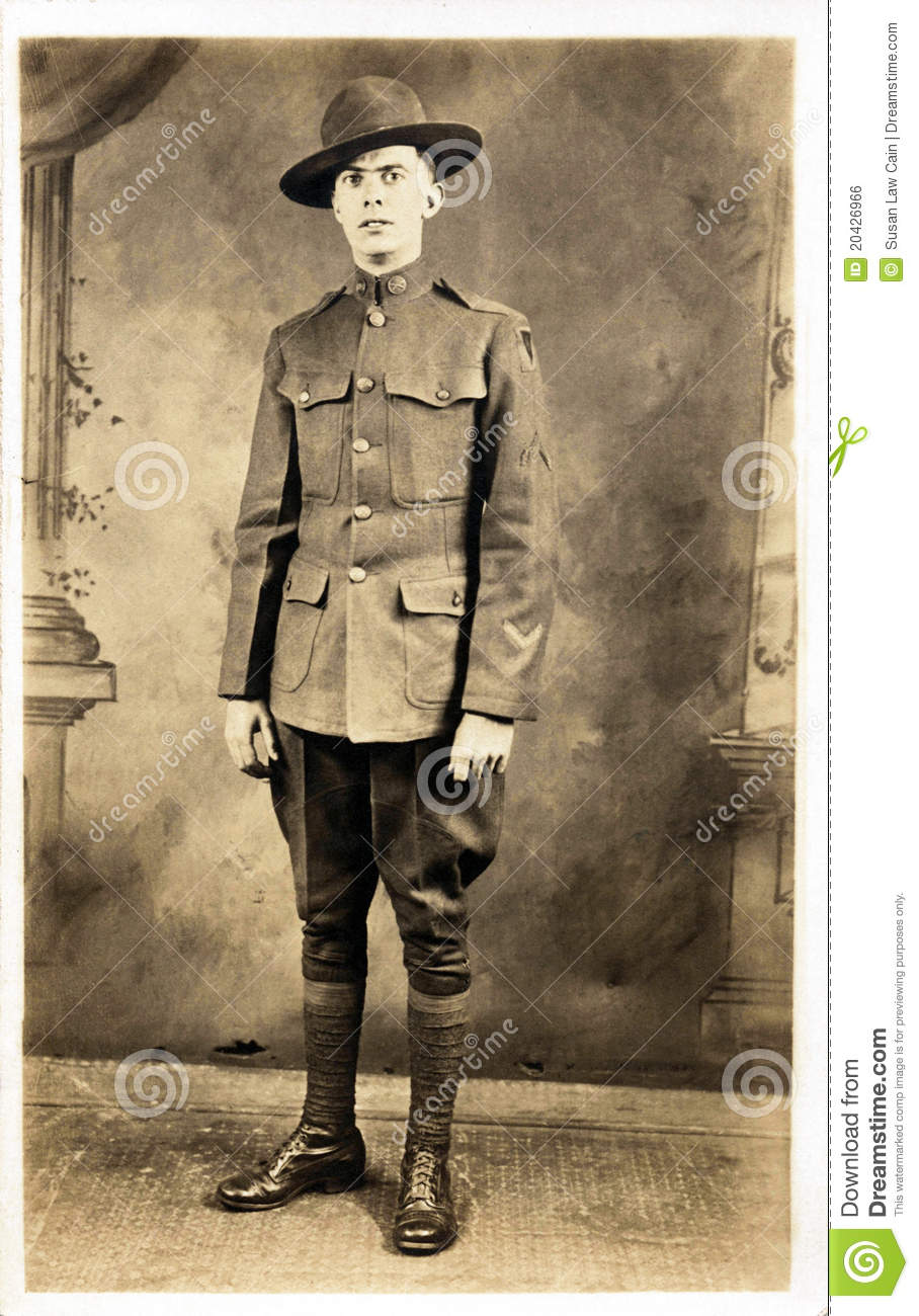 American Soldier from WWI stock photo  Image of infantry - 20426966