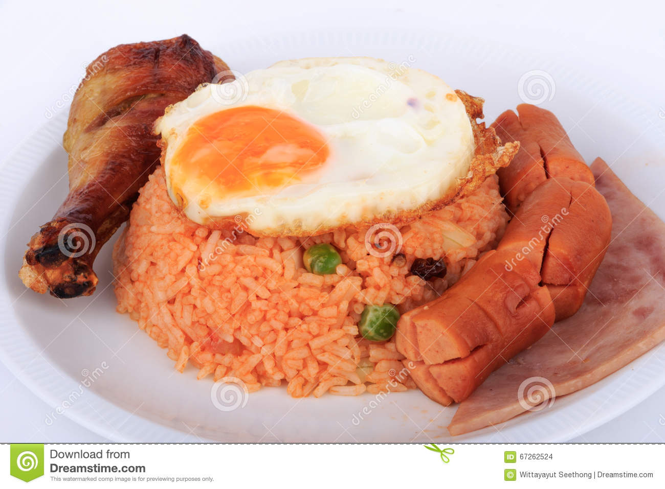 American style breakfast set american fried rice stock for American style cuisine