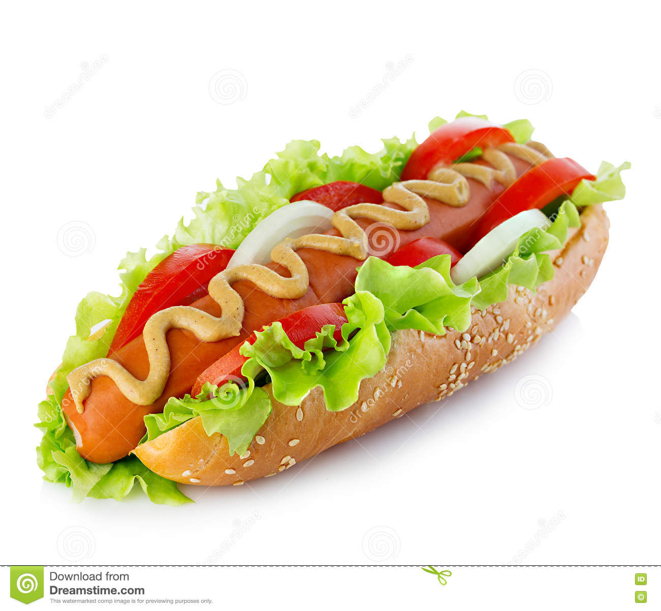 Hot Dog With Tomato Sauce