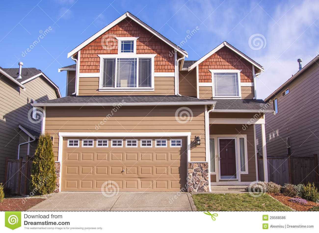 American style house stock photo image of luxury facade for American house styles