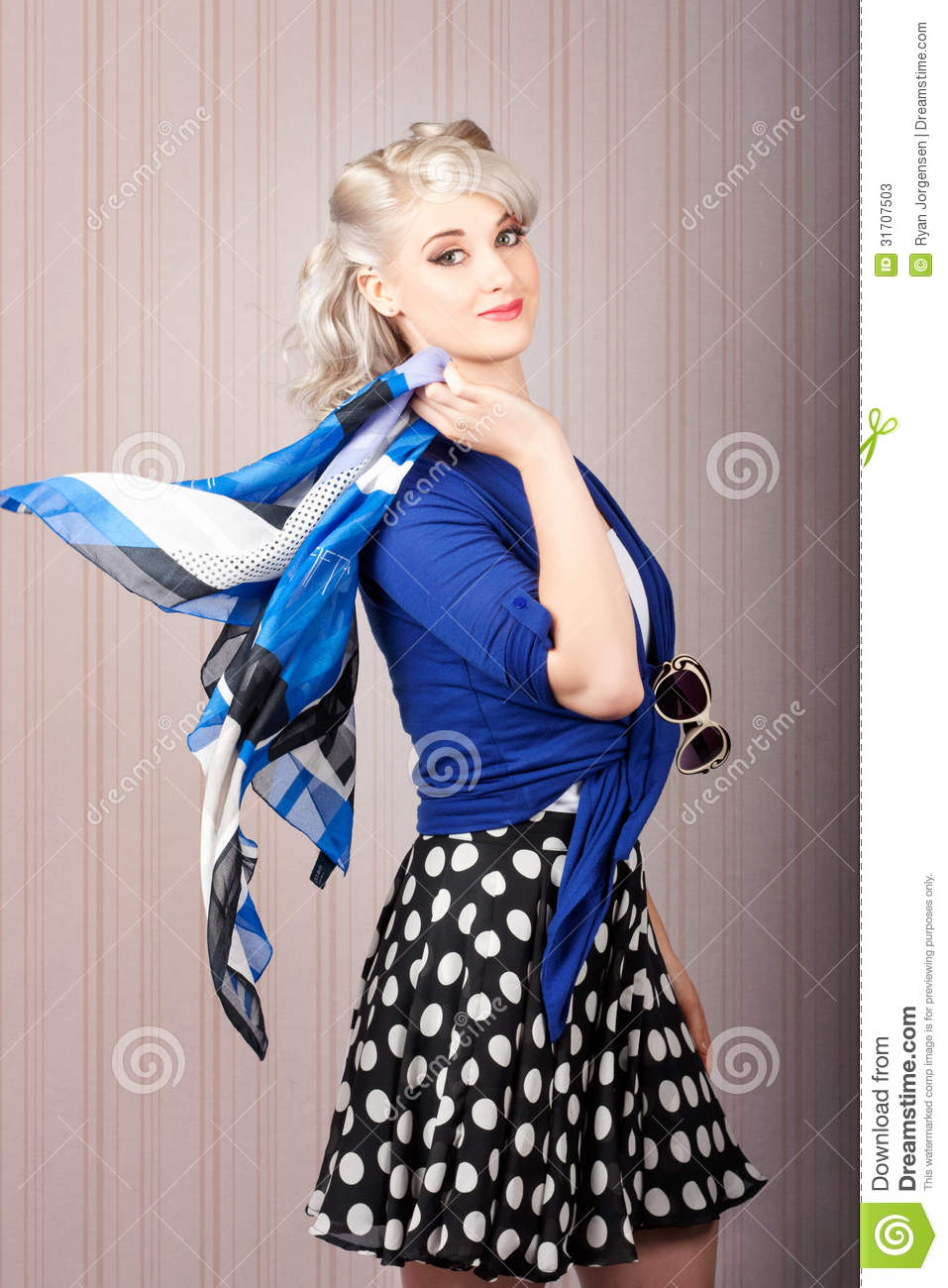 American Style Pin Up Girl Vintage Background Stock Photos Image 31707503