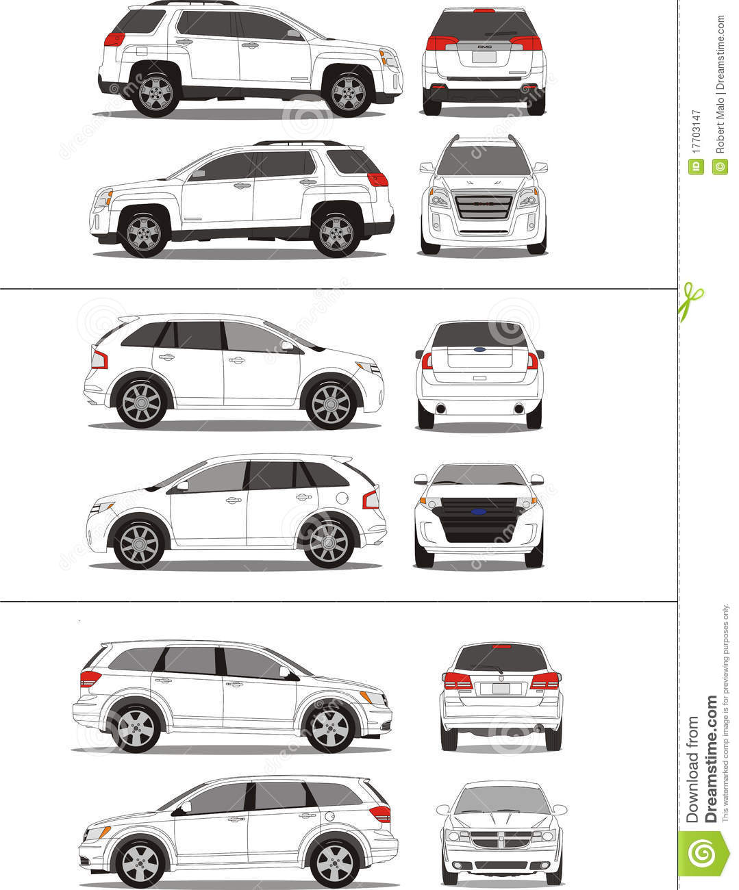American Suv Vehicle Outline Royalty Free Stock Photography