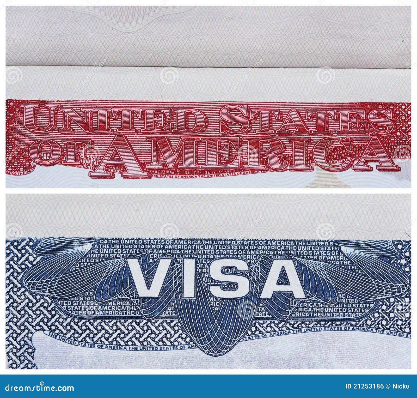 American US visa stock photo  Image of colors, america