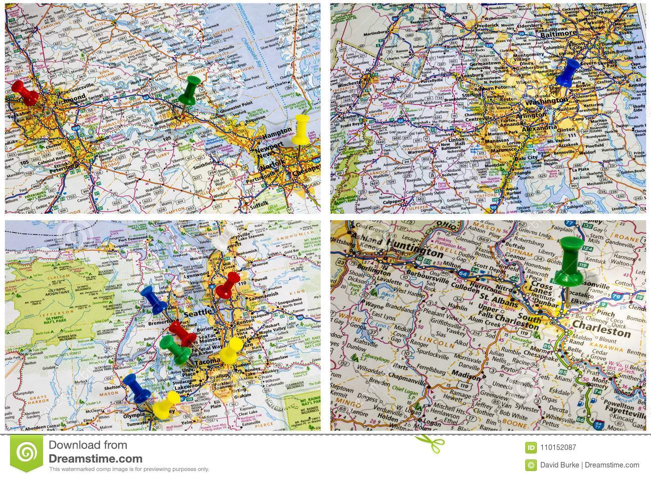 Interstate Highway Maps America Editorial Photography ...