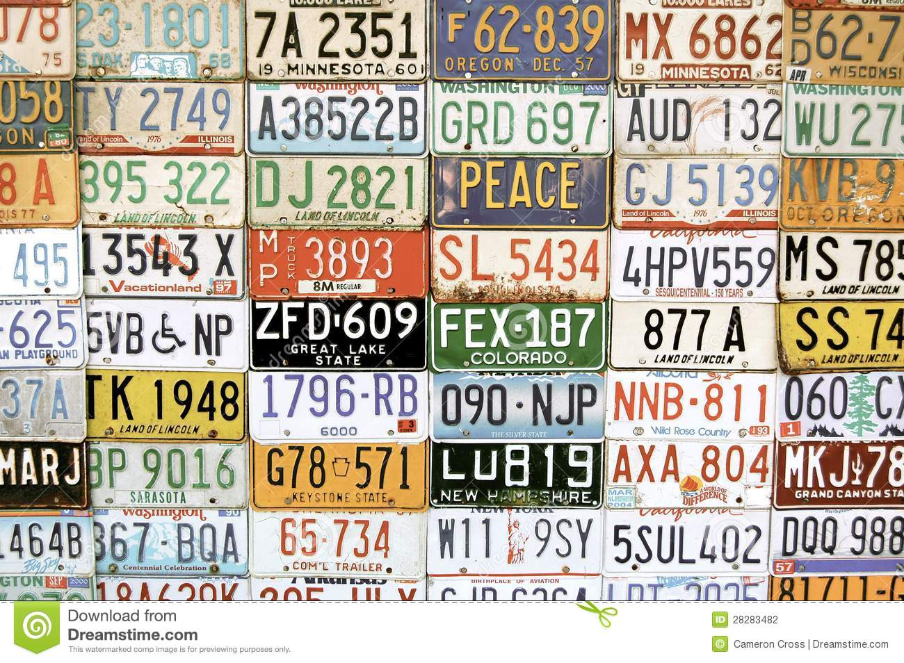 American Vehicle Number Plates Editorial Photography - Image of ...