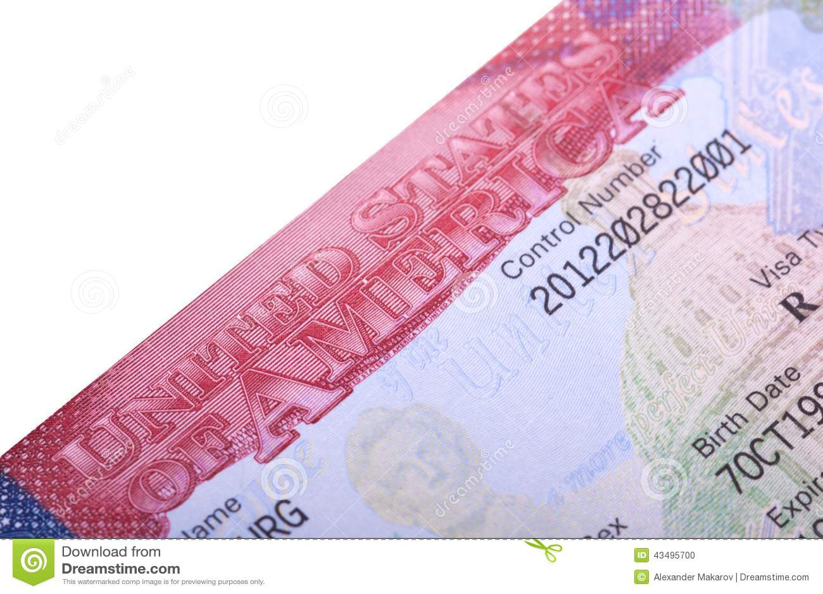 American Visa In The Passport  Stock Photo - Image of blue