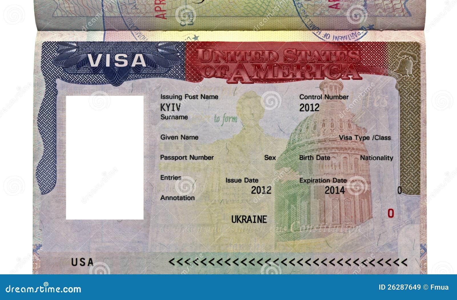 American Visa For Ukrainian Citizen Usa Travel Stock