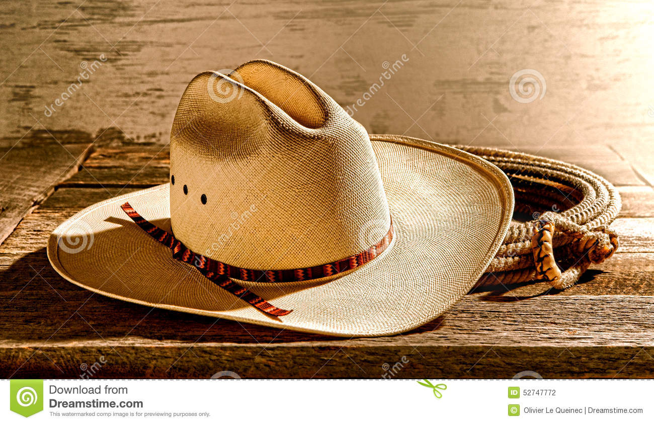 6c5519417942d American West Rodeo Cowboy Hat And Lariat Stock Photo - Image of ...