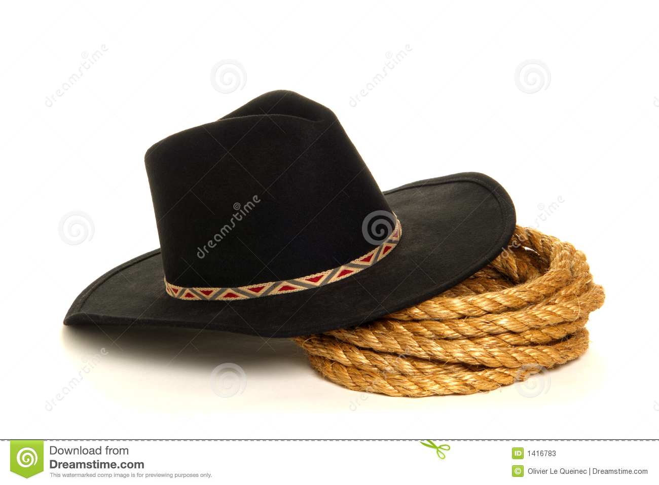 ... West Rodeo Cowboy Hat And Ranching Rope Stock Photos - Image: 1416783