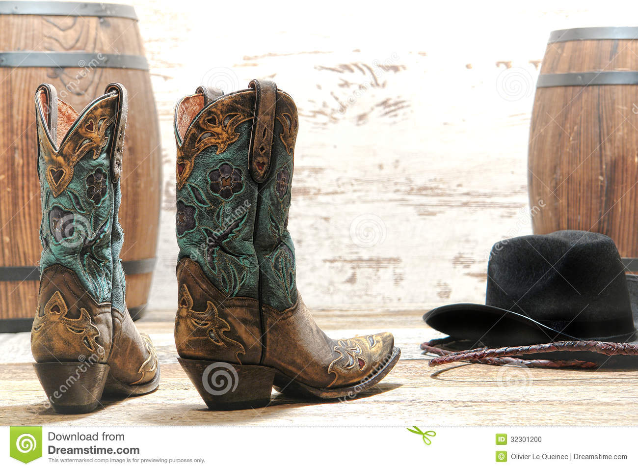 Similiar Old Cowboy Boots And Hat Keywords
