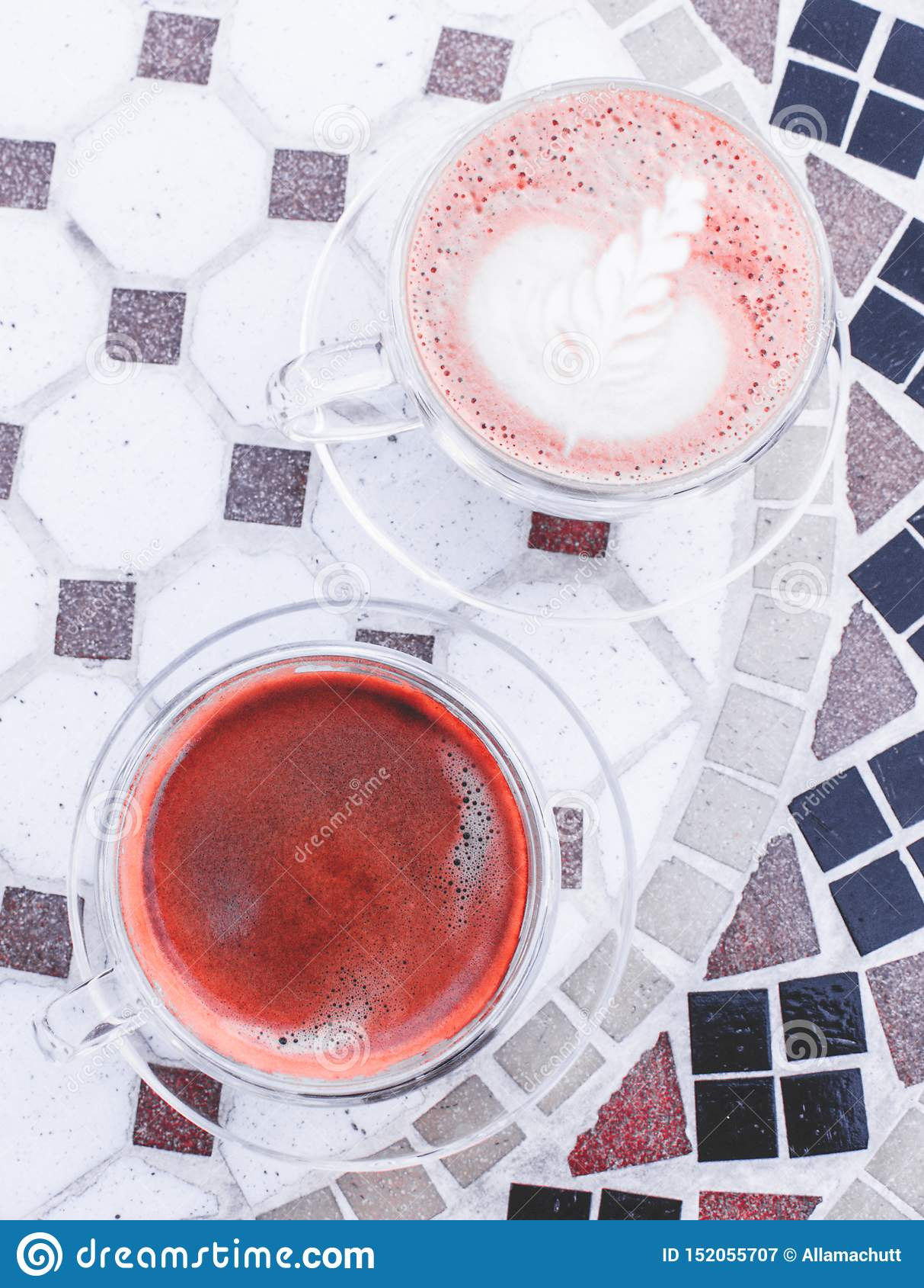 Americano και cappuccino