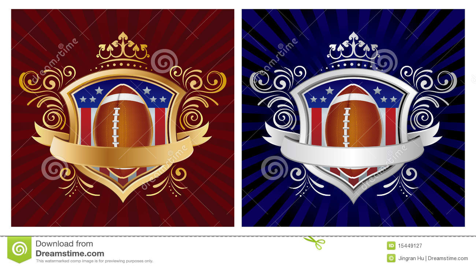 Amerika-Fußball mit Schild