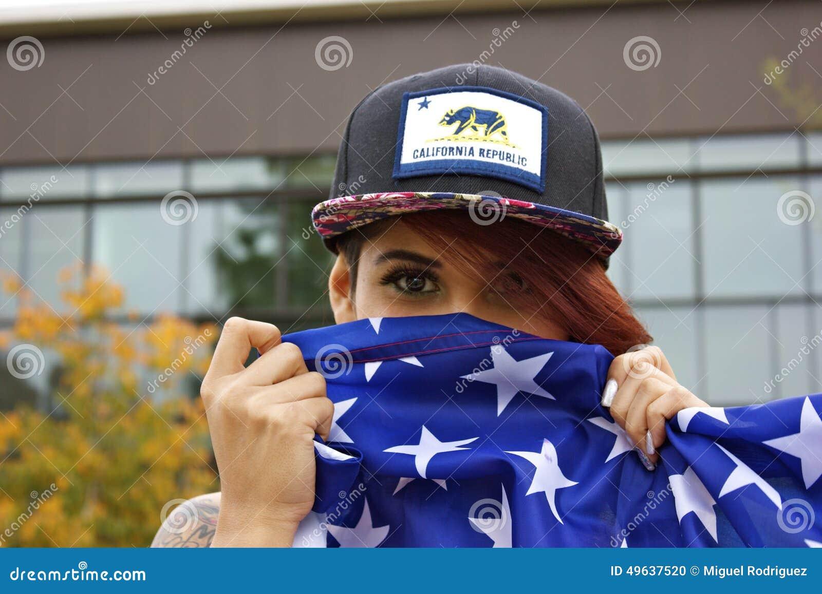 Amerikaans vlagmeisje
