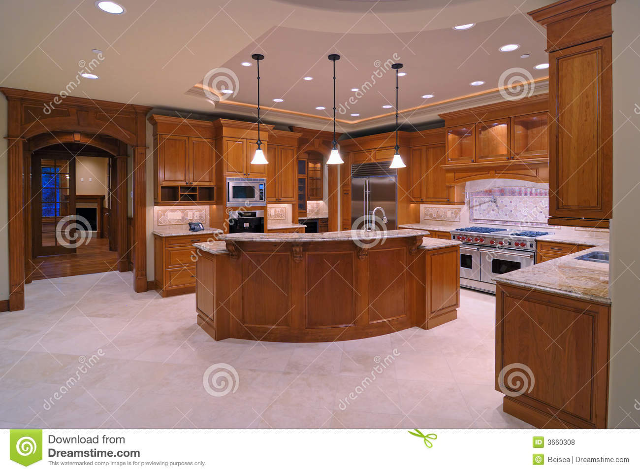 Amerikaanse keukens stock foto afbeelding bestaande uit for Kitchen designs that stand the test of time