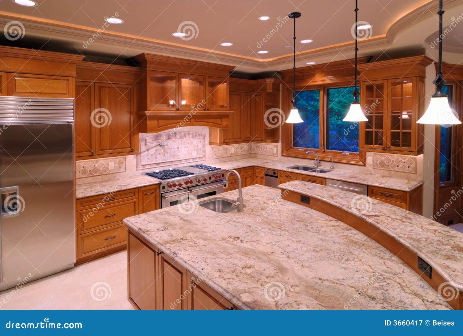 Amerikaanse keukens stock afbeelding. afbeelding bestaande uit