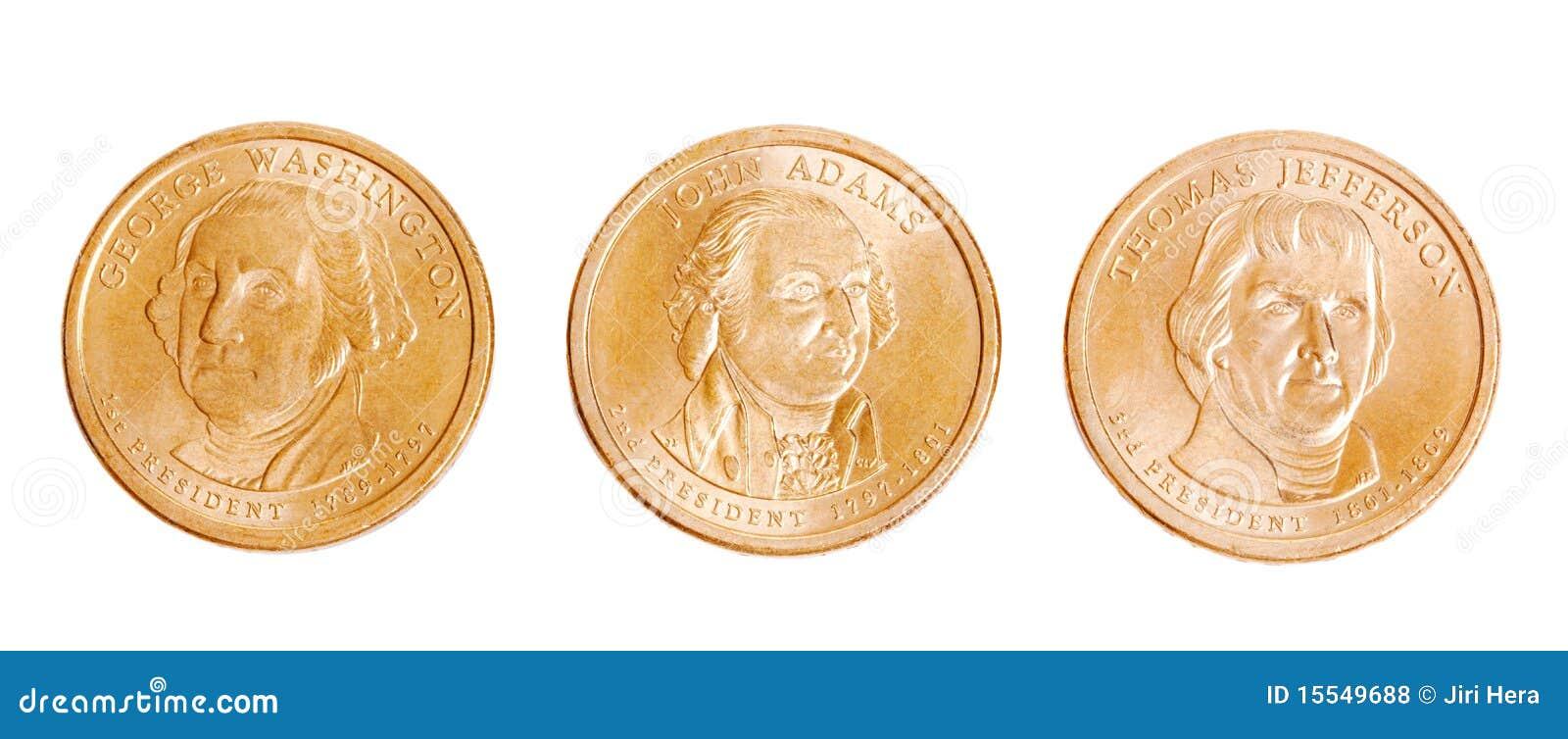 Amerikaanse muntstukken met voorzitters