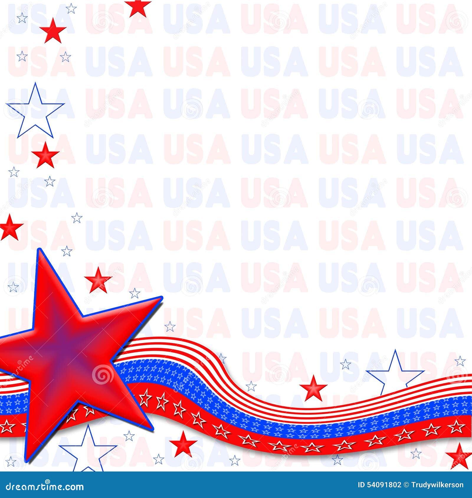 Amerikaanse Patriottische Achtergrond, Sterren en Strepen