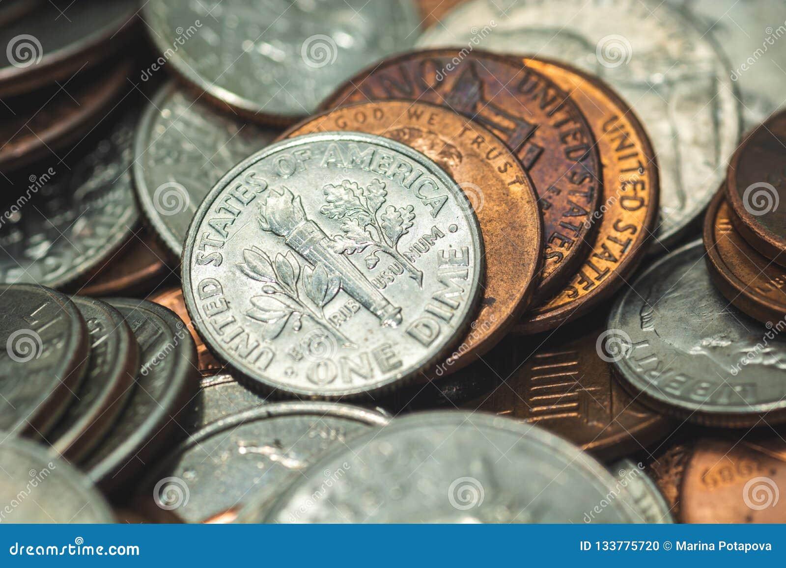 Amerikaanse Penny Money-achtergrond