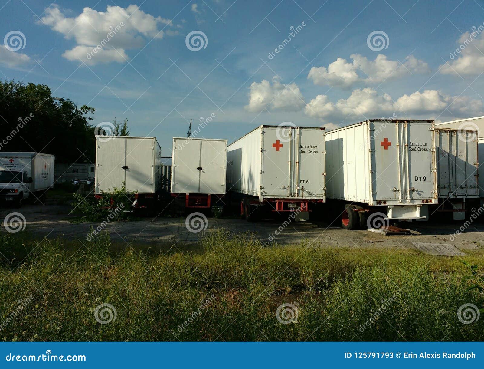 Amerikaanse Rood Kruisvrachtwagens, Brooklyn, NY, de V.S.