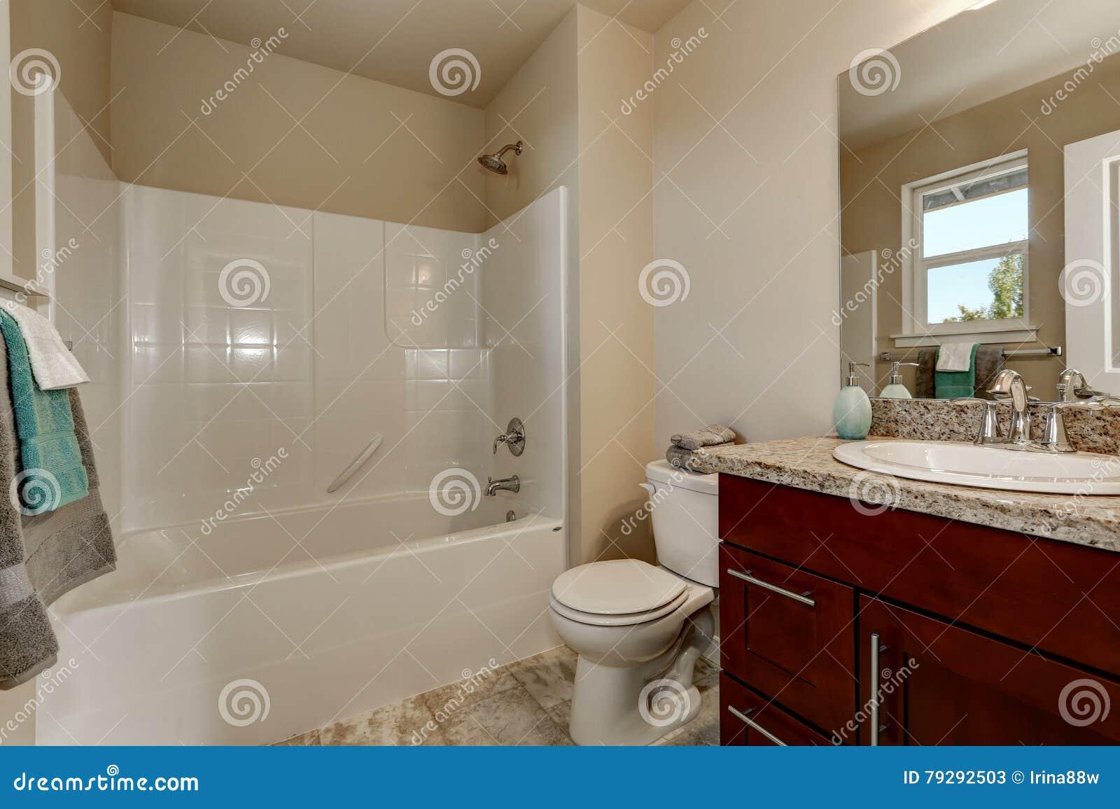 Toilet Met Douche : Amerikaanse stijlbadkamers met ijdelheidskabinet toilet en douche