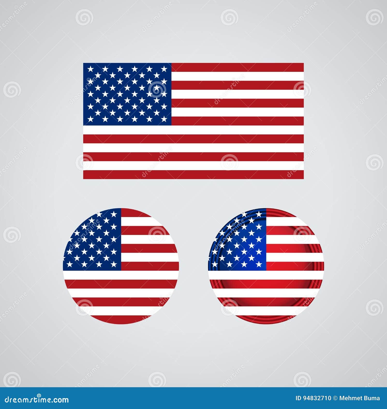 Amerikaanse triovlaggen, illustratie