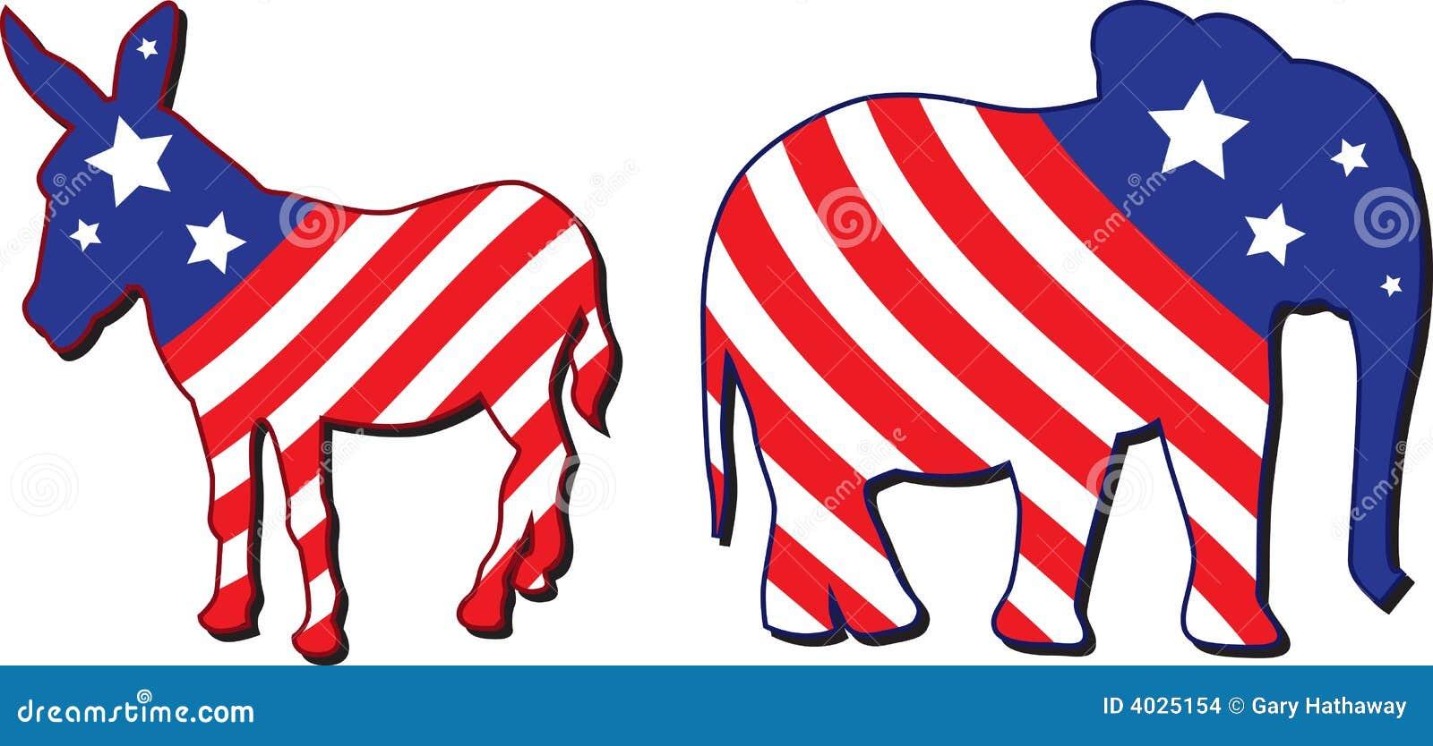 Amerikaanse verkiezings vectorillustratie