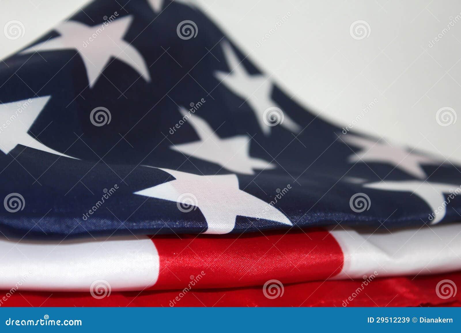 Amerikaanse Vlag op witte achtergrond