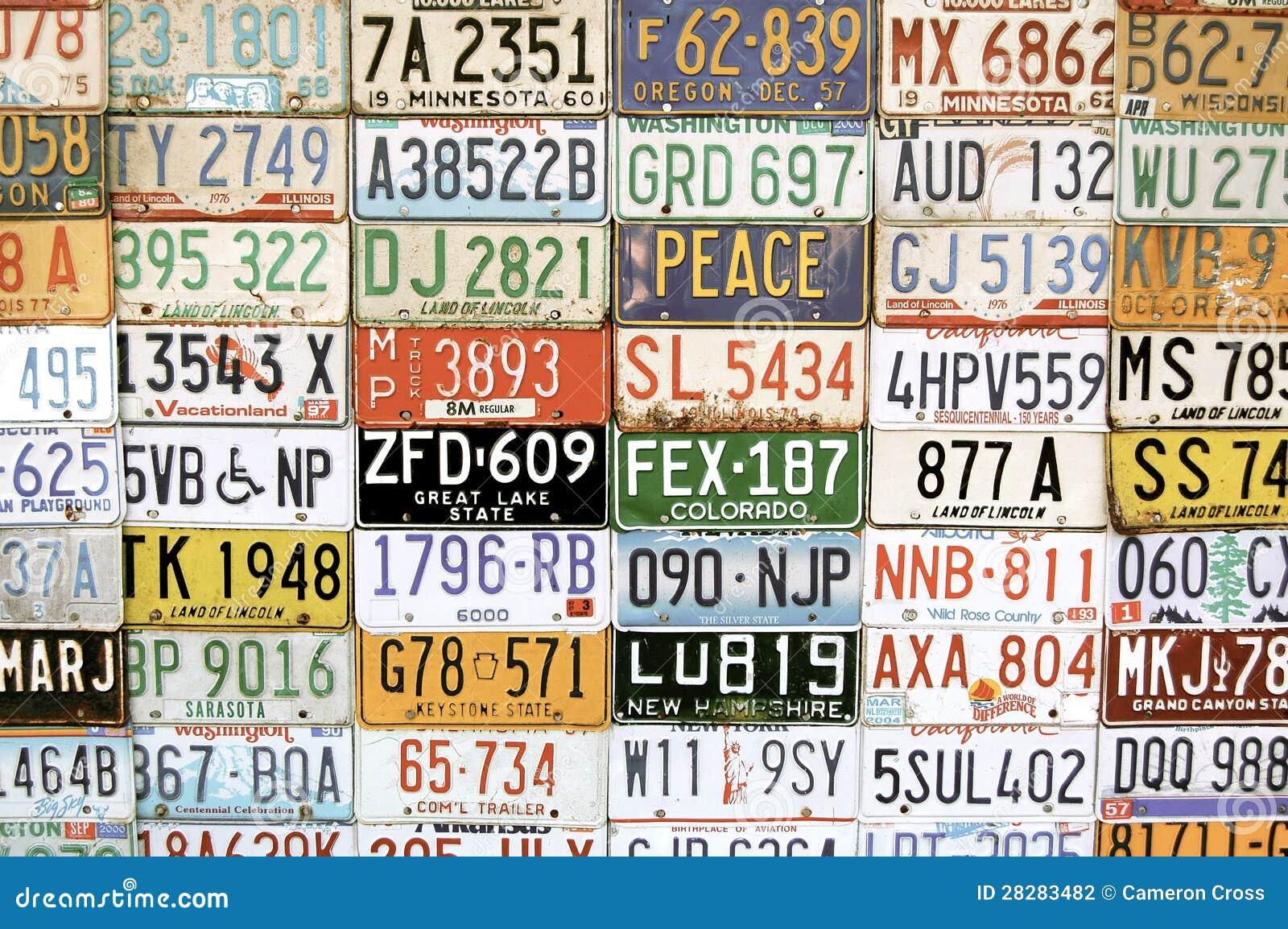 Amerikaanse voertuignummerplaten