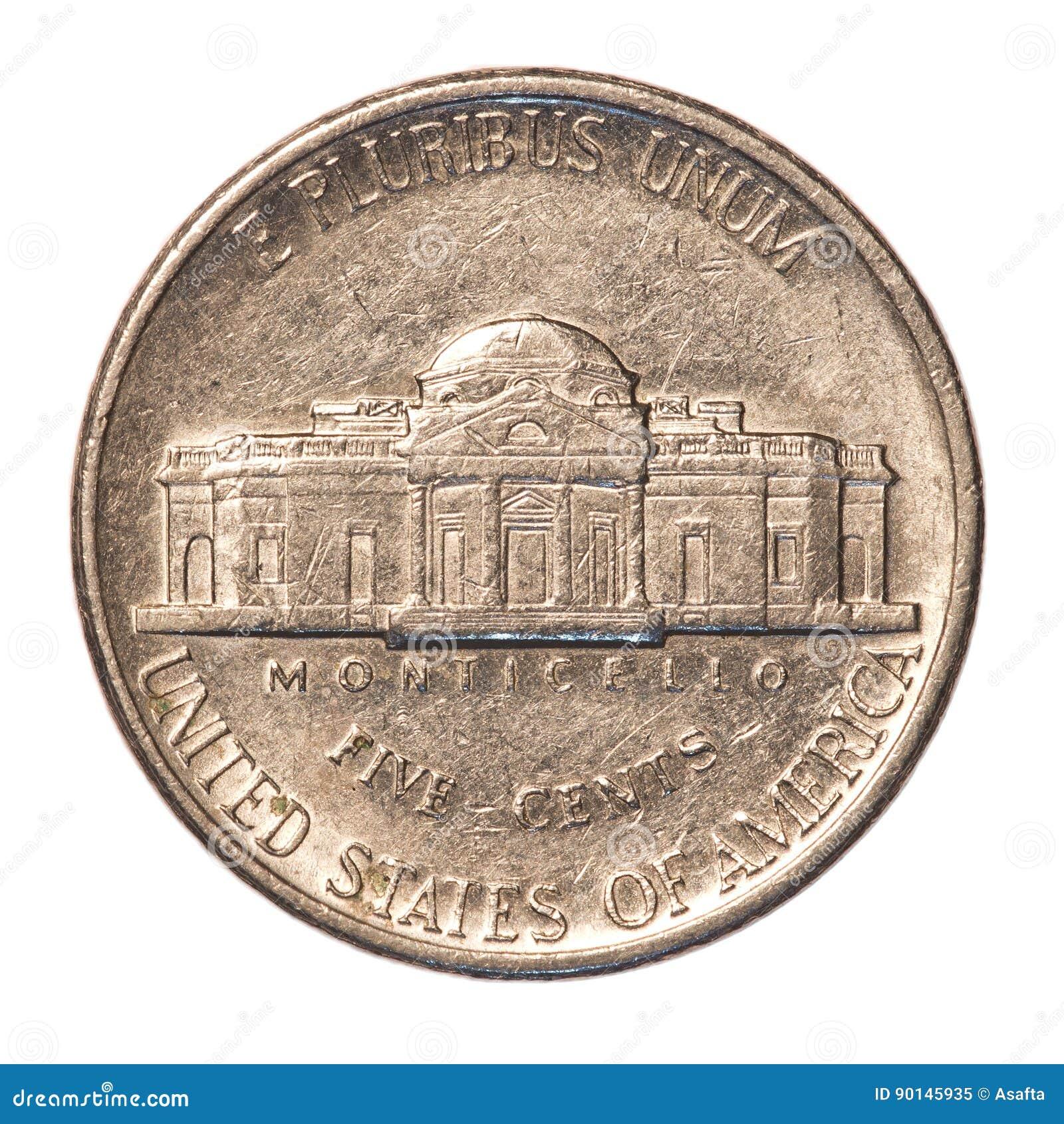 Amerikaner Fünf Cent Münze Stockbild Bild Von Freiheit 90145935
