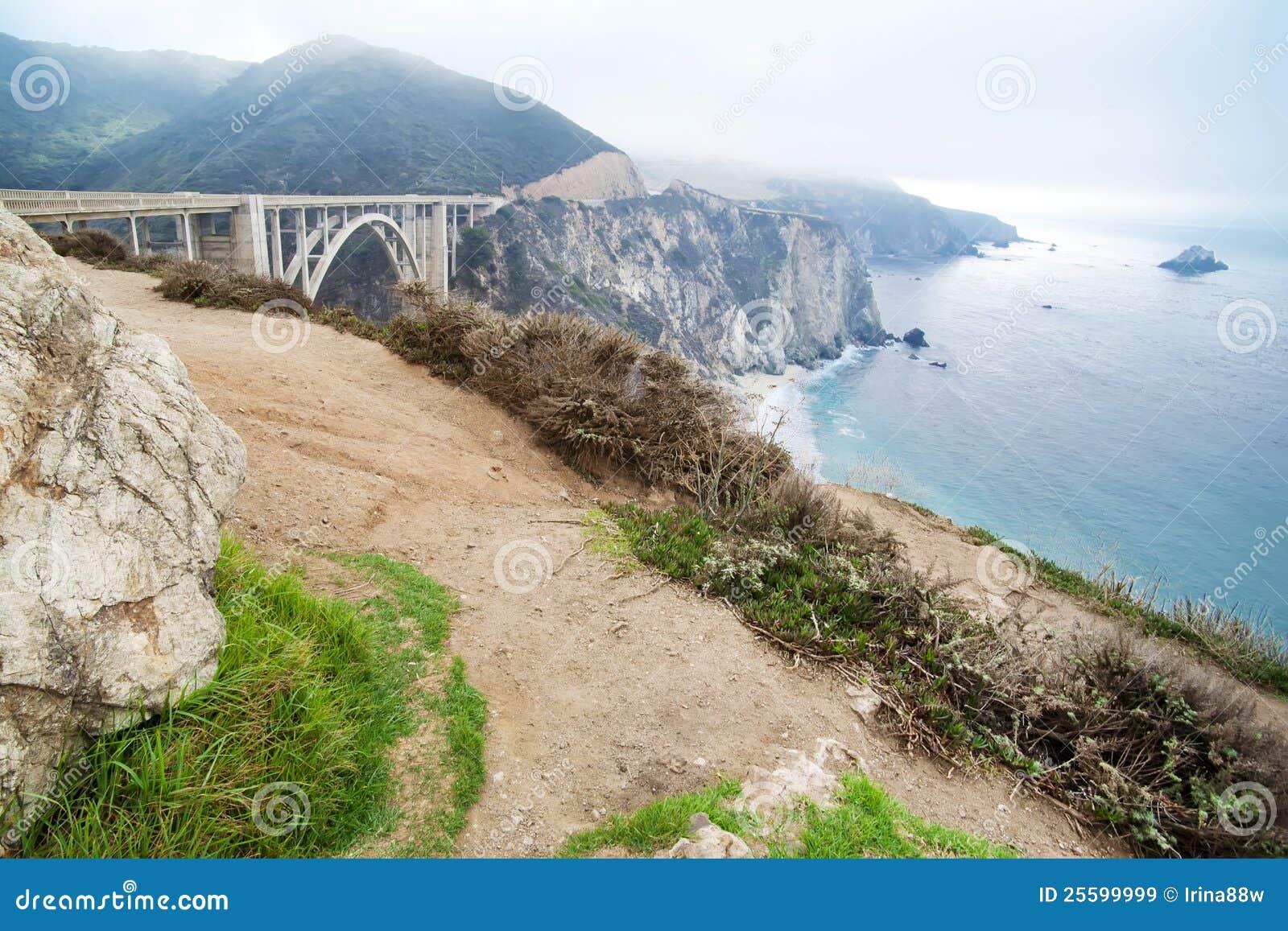 Amerikaner-Westküste-Kalifornien-Landschaft. Stockbild - Bild von ...