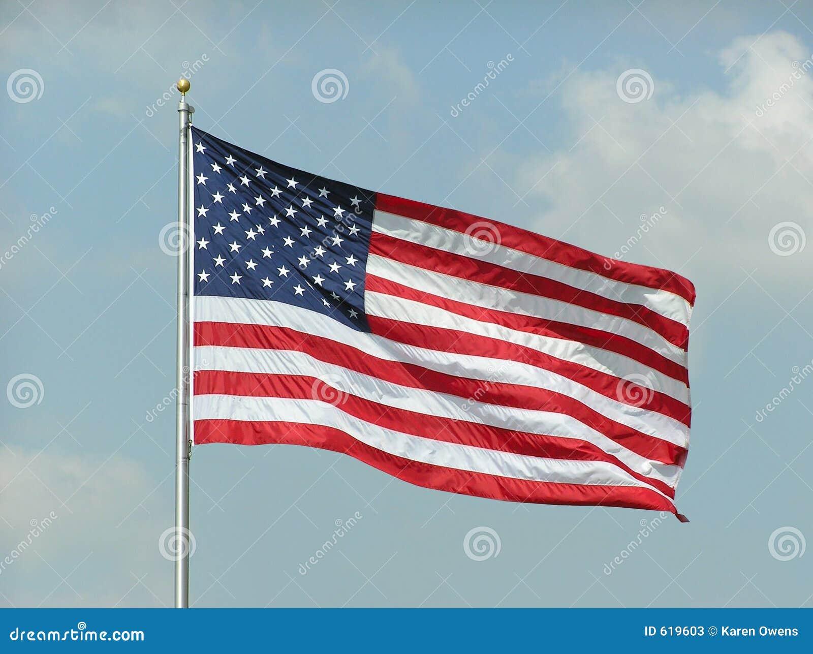 amerikanische flagge stockbild bild von fahnen markierungsfahnen 619603. Black Bedroom Furniture Sets. Home Design Ideas