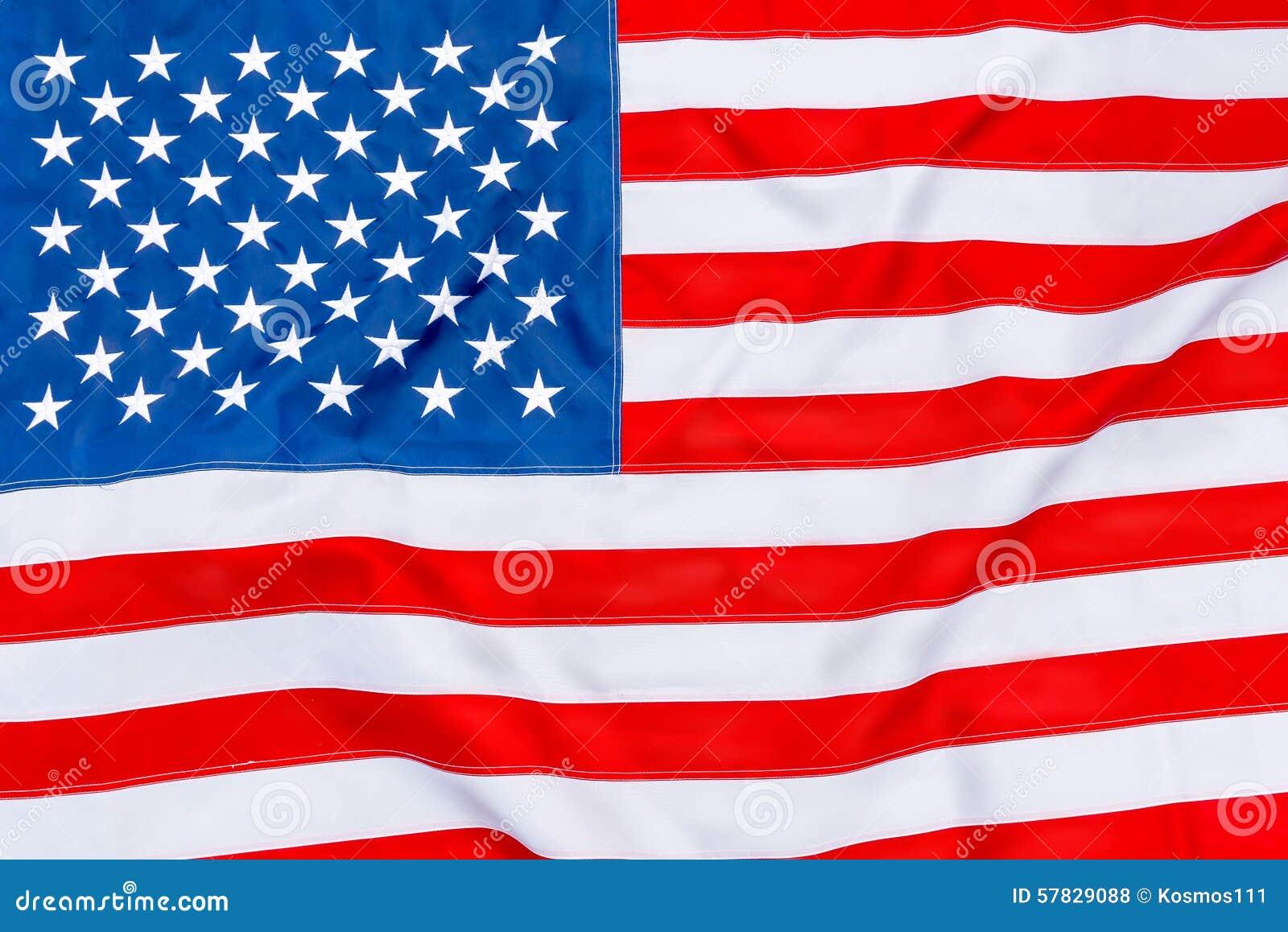 Amerikanische Flagge Füllt Den Rahmen Vollständig Und Das Flattern ...