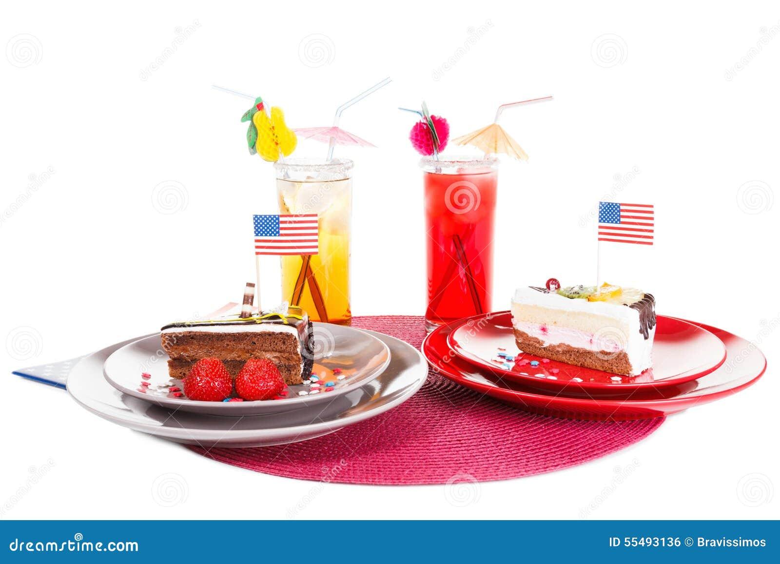 Amerikanische flagge und kuchen stockfoto bild 55493136 - Amerikanische ka chen ...