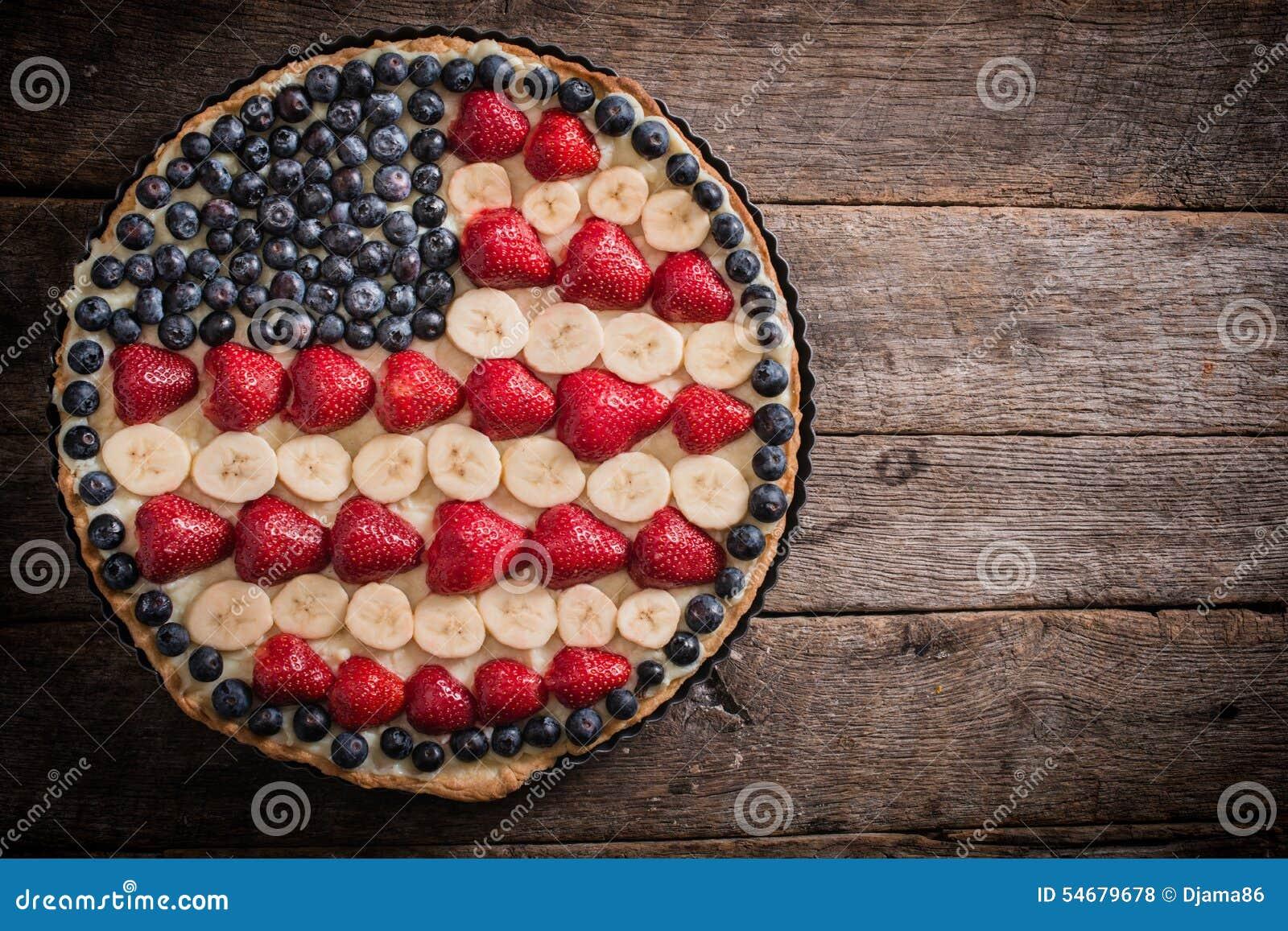 Amerikanische torte stockfoto bild von fr chte nahrung - Amerikanische ka chen ...
