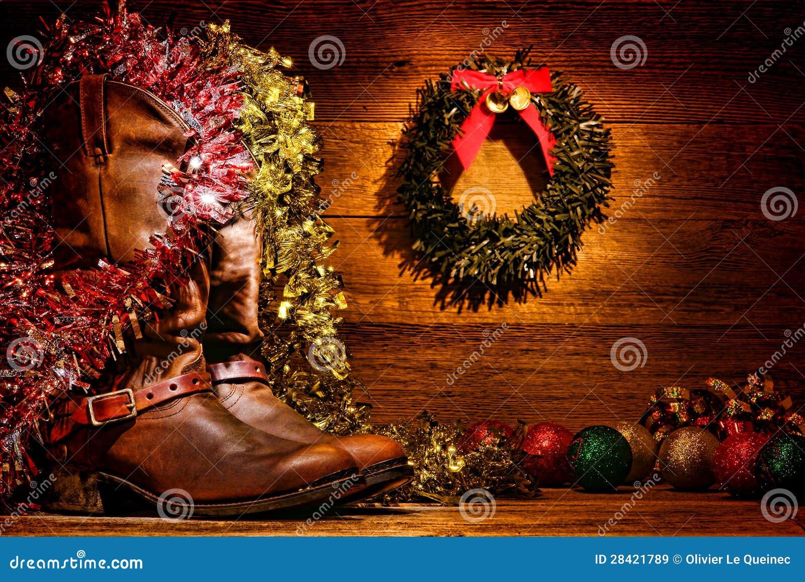 amerikanische westrodeo cowboystiefel weihnachtskarte. Black Bedroom Furniture Sets. Home Design Ideas