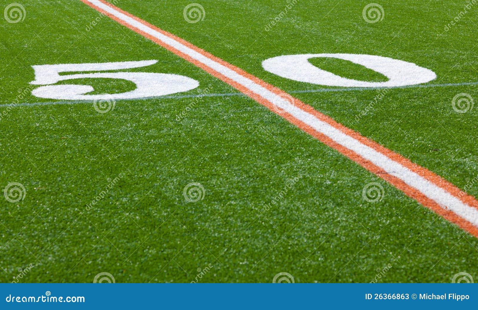 Amerikanischer Fußballplatz - Yard-Line 50