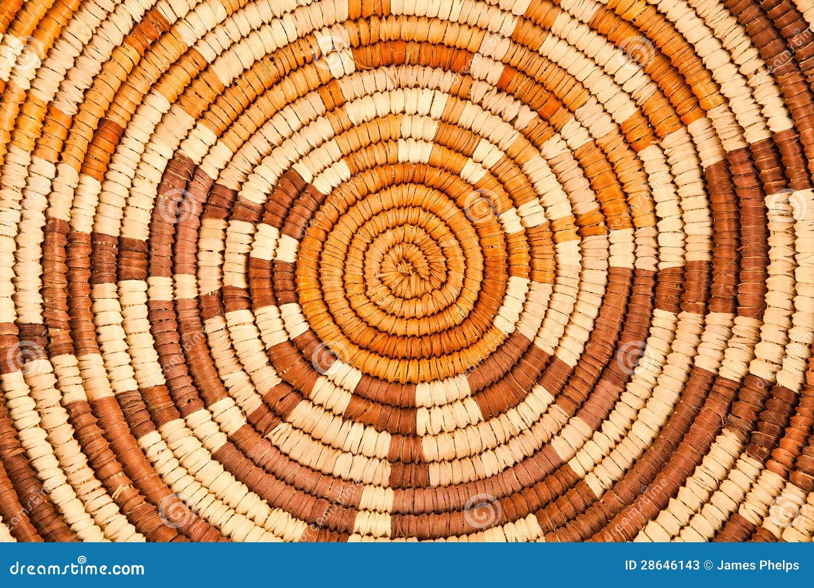 Amerikanischer Ureinwohner gesponnenes Hintergrund-Muster