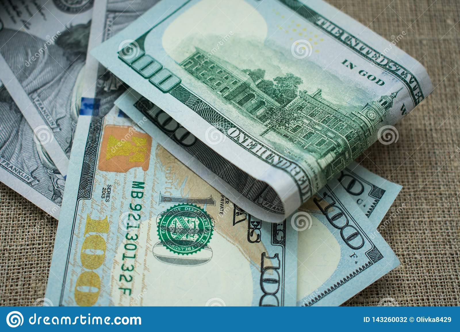 Amerikanisches Dollar-Geld 100