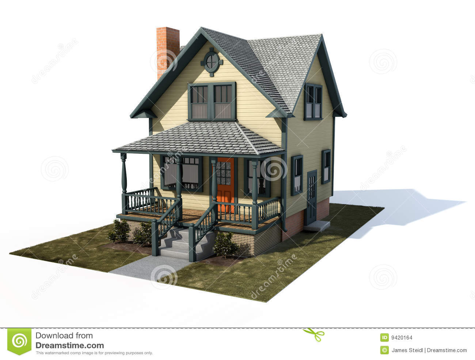 amerikanisches haus stockbilder bild 9420164. Black Bedroom Furniture Sets. Home Design Ideas