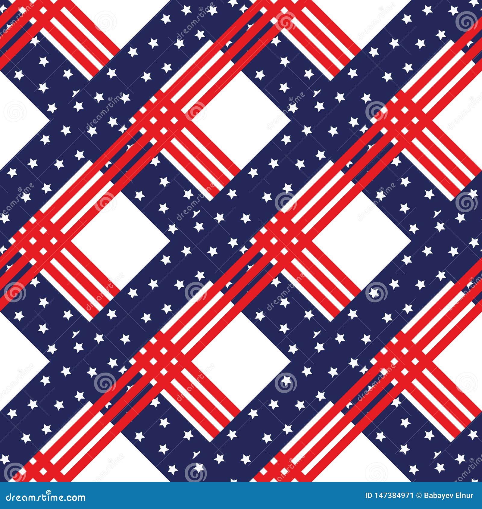 Amerikanisches Patriotisches Sternenbanner Nahtloses