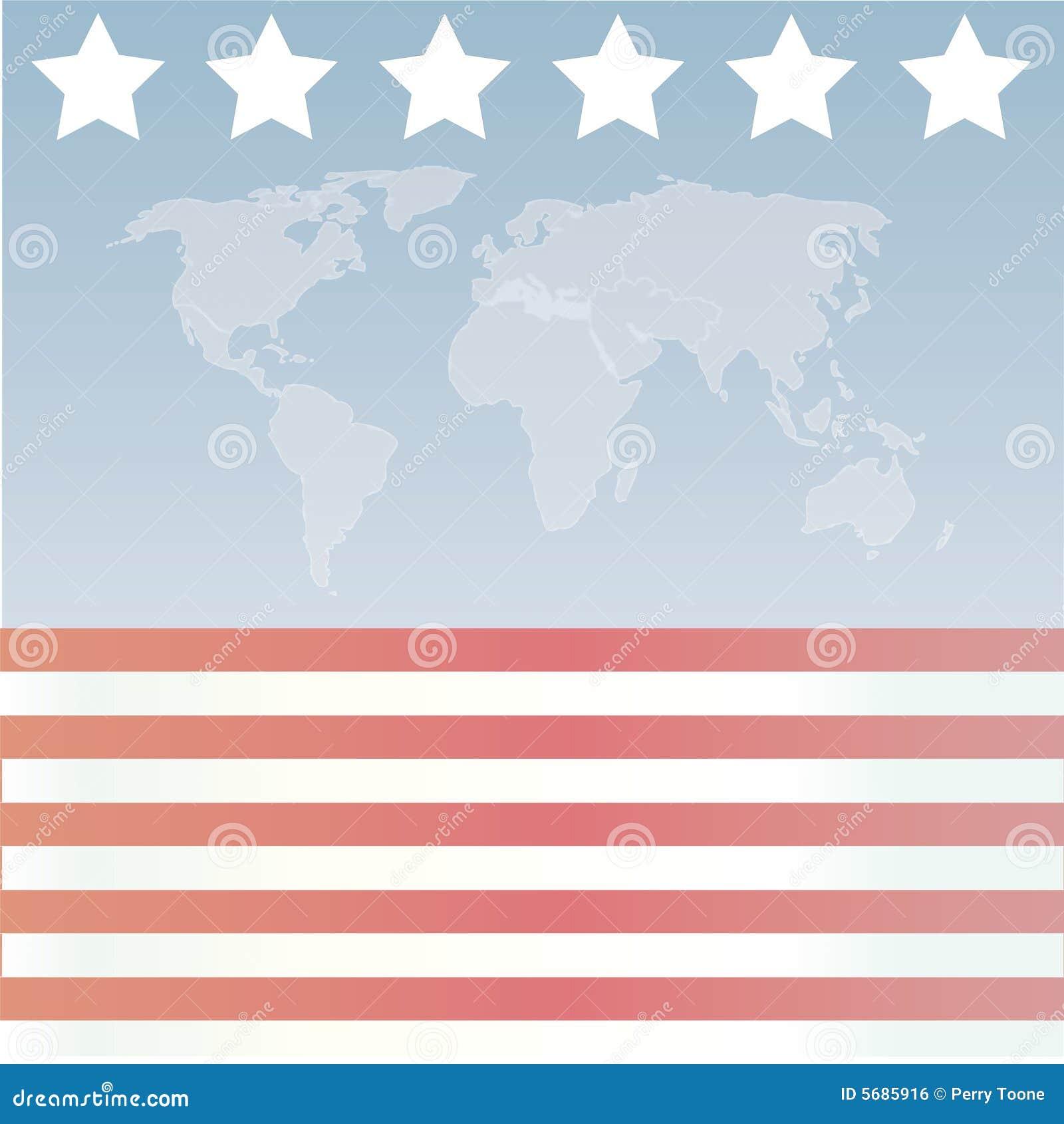 Amerikanisches Sternenbanner Wor
