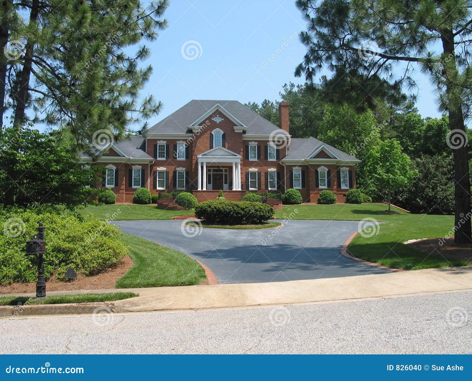 amerikanisches traumhaus stockfoto bild 826040. Black Bedroom Furniture Sets. Home Design Ideas