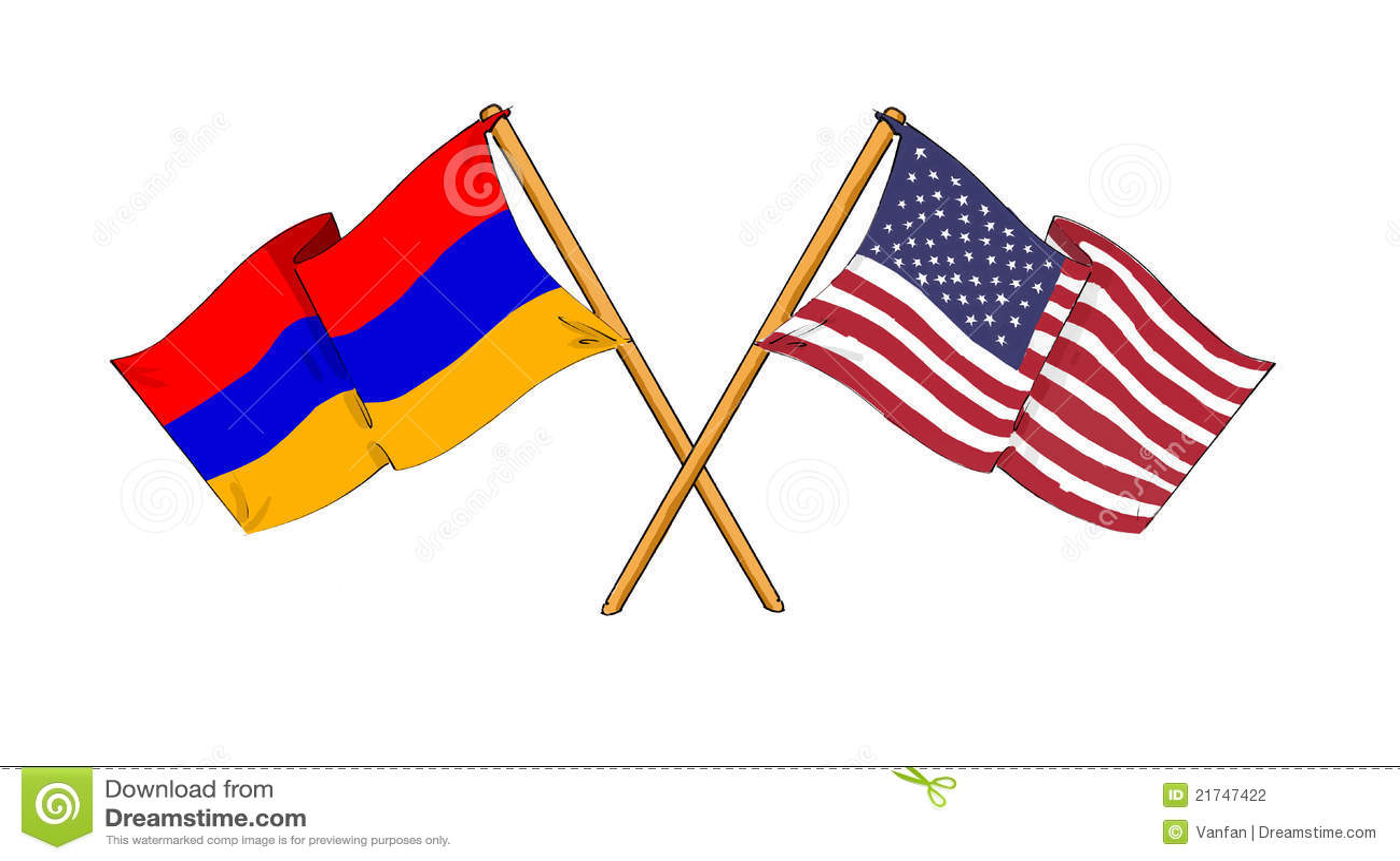 Amerikanisches Und Armenisches Bündnis Und Freundschaft Stock