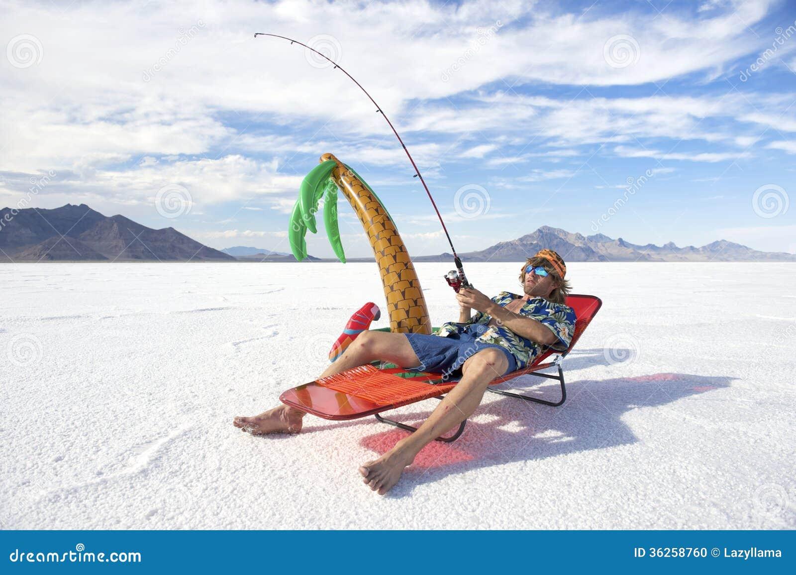 Amerikansk fiskare Goes på billig ferie för isfiskesemester