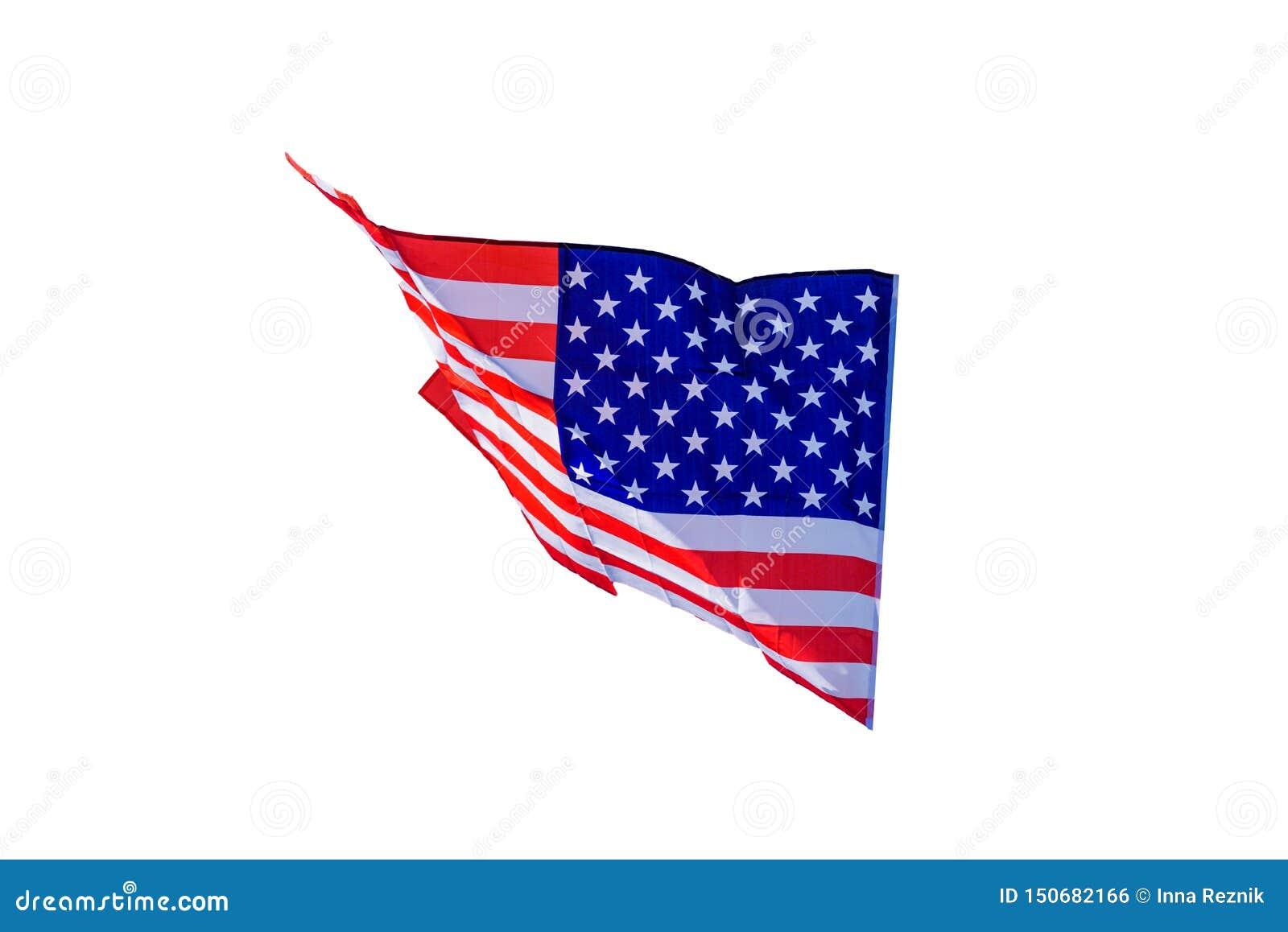 Amerikansk isolerad v?g white f?r bakgrund flagga
